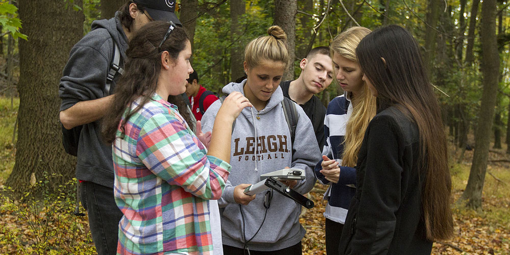 Lehigh University Environmental Initiative - Group with equipment