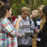 Lehigh University Environmental Initiative-Group with equipment